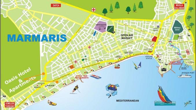Мармарис карта