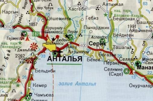 скачать карту анталии на русском языке - фото 2