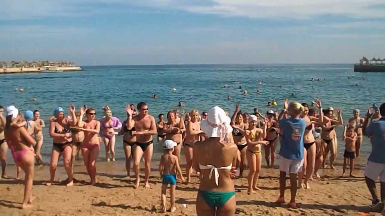 пляж отеля Альбатрос в Хургаде 4 звезды