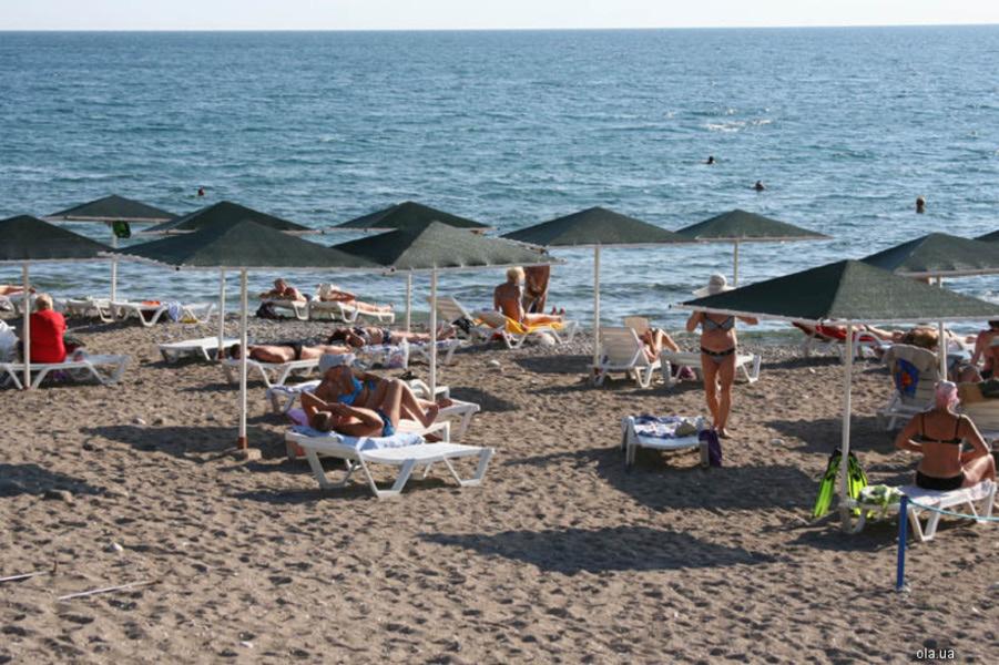 пляж в отеле Марин Кемер Турция