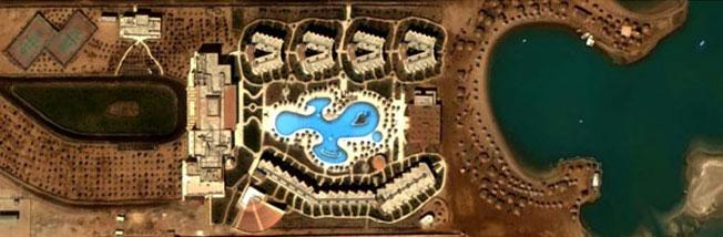 Расположение отеля Клаб Азур Хургада
